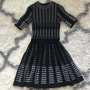 H&M Black and White Sweater Dress